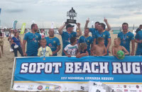 Arka Rumia druga podczas Sopot Beach Rugby 2017