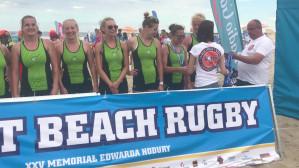 Biało-Zielone Ladies Gdańsk z medalami Sopot Beach Rugby 2017