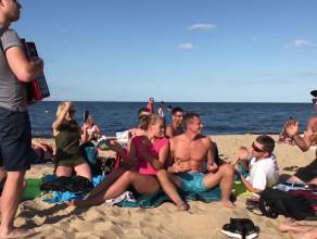 Despacito na akordeonie na plaży