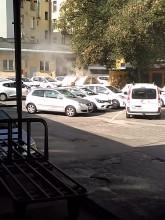 Pożar śmietnika na terenie poczty