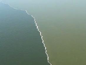 Spotkanie wody z Wisły z wodą z Zatoki Gdańskiej