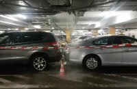 Zalany parking w Matarni