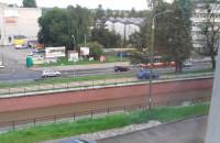 Auto jechało po ścieżce wzdłuż Raduni
