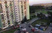 Akcja strażaków na ósmym piętrze Rzeczypospolitej 11