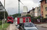 Akcja straży pożarnej na Rozewskiej