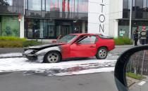 Spalone auto na Jana z Kolna