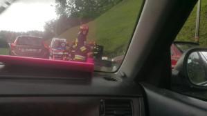 Dachowanie auta na Estakadzie Kwiatkowskiego