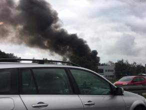 Pożar salonu Iveco Szadółki
