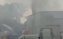 Duży pożar przy obwodnicy na Szadółkach