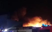 Pożar stacji paliw Lotos w Redzie