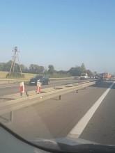 Wypadek przed bramkami na A1