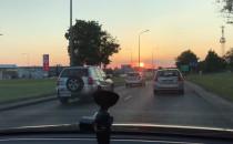 Piękny zachód słońca obserwowany z...