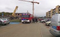 Interwencja straży, policji i pogotowia na...