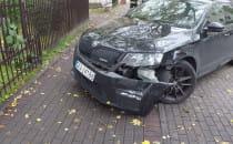 Skutki zderzenia na ul. Kopernika w Gdyni