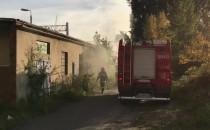 Pożar przy gdańskim stadionie