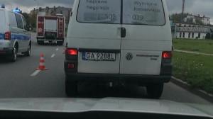 Skutki wypadku na al. Havla w Gdańsku