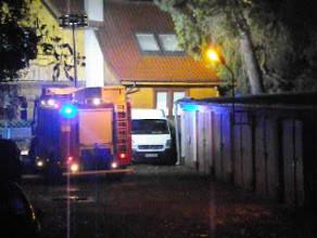 Pożar domu jednorodzinnego w Gdańsku-Oliwie 2