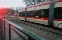 Stoją tramwaje Pomorska Chłopska