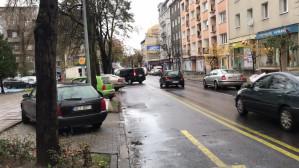 Samochody zaparkowane na zakazie w centrum Gdyni