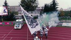 Futboliści amerykańscy Białych Lwów podczas finału PLFA 8