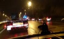 Kolizja przy węźle Karczemki w kierunku Gdyni