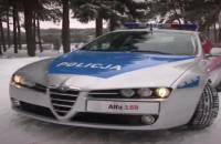 Alfa Romeo w policyjnym malowaniu