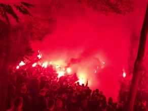 Powitanie Lechii w Gdańsku po zwycięstwie w derbach w Gdyni