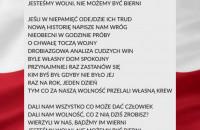 """""""Wolność"""" - piosenka do słów Jakuba Zaleskiego"""