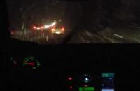 Złe warunki na obwodnicy, pada śnieg