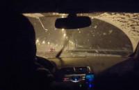 Węzeł Karczemki w śniegu