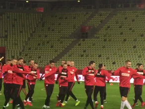 Reprezentacja Polski trenuje na stadionie w Gdańsku