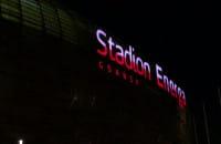 Stadion w Gdańsku w biało-czerwonych barwach