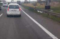 Awaria ciężarówki na obwodnicy w Pruszczu