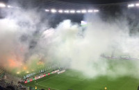 Racowisko na meczu Lechia - Wisła