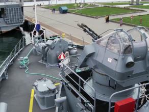 Niszczyciel min ORP Kormoran: wnętrza i uzbrojenie
