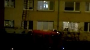 Straż pożarna i policja na ul. Przyjemnej w Oruni