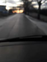 Oblodzona jezdnia w rejonie Gdańska