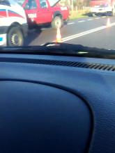 Zderzenie ciężarówki z osobówką