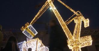 Iluminacje świąteczne w centrum Gdańska