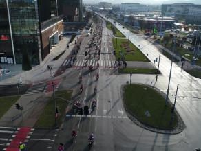 Początek orszaku Mikołajów na motocyklach- Gdańsk Oliwa
