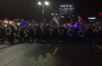 Marsz za Konstytucja na wysokości Rady Miasta w Gdańsku