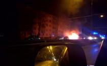 Nocny pożar auta w Gdyni