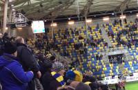 Radość po golu na 1:0 w meczu Arka - Górnik