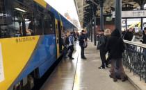 Pociąg z turystami z Kaliningradu