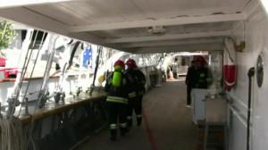 Straż pożarna na pokładzie Daru Pomorza