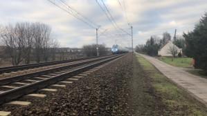 Ruch pociągów przy ul. Zawiejskiej w Gdańsku