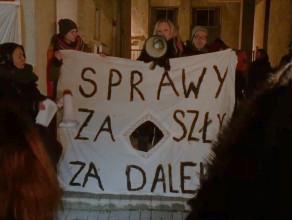Protest w sprawie złagodzenia prawa aborcyjnego