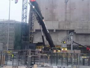 Przygotowania do rozbiórki dźwigu na Forum Gdańsk