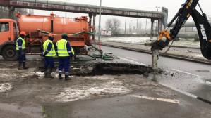 Awaria wodociągowa na Marynarki Polskiej w Gdańsku