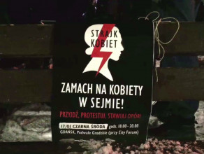 Gdański protest po głosowaniu ws. prawa aborcyjnego
